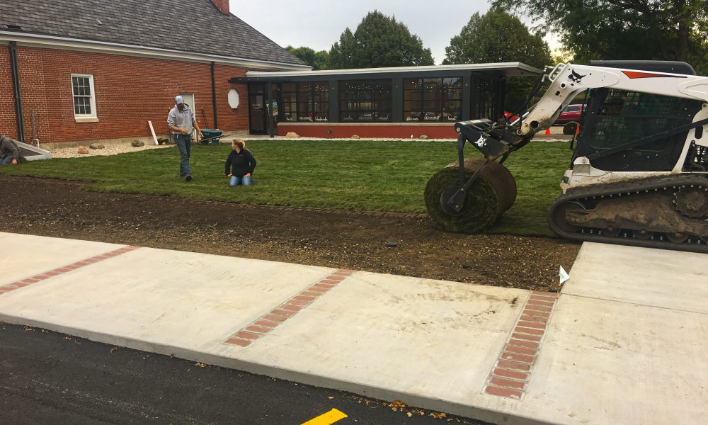 Sod Laid Down to Complete Green-Space